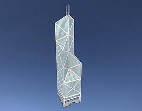 3D asset game-ready Bank of China Tower in Hong Kong