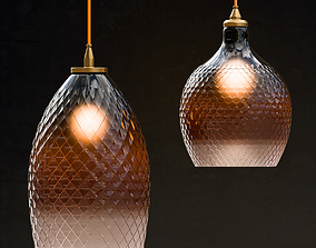 3D model Lamp Hanging Round Ombre