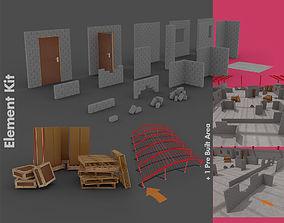 Level Starter Pack for Brick Built Environments 3D asset