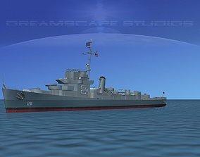 3D Destroyer Escort DE-211 USS Hubbard