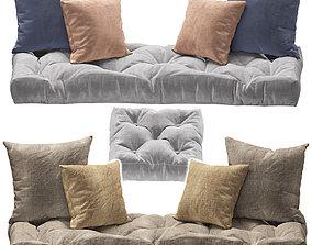 Seat pillow set 3 3D