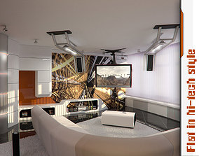 Apartment High Tech 3D model