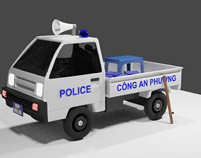 3D Vietnamese police truck