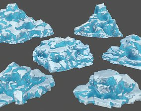 icebergs 3D asset realtime