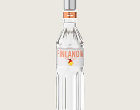 Finlandia Original Classic Mango Bottle Vodka Of 3D asset