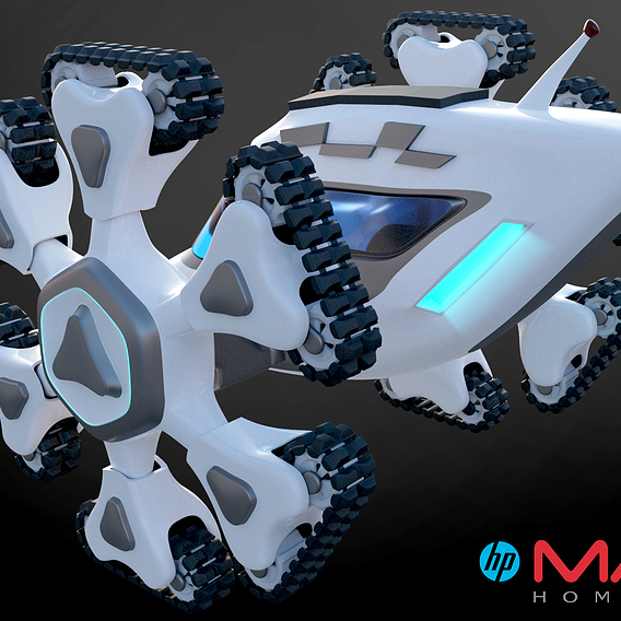 Mars vehicle 3d concept