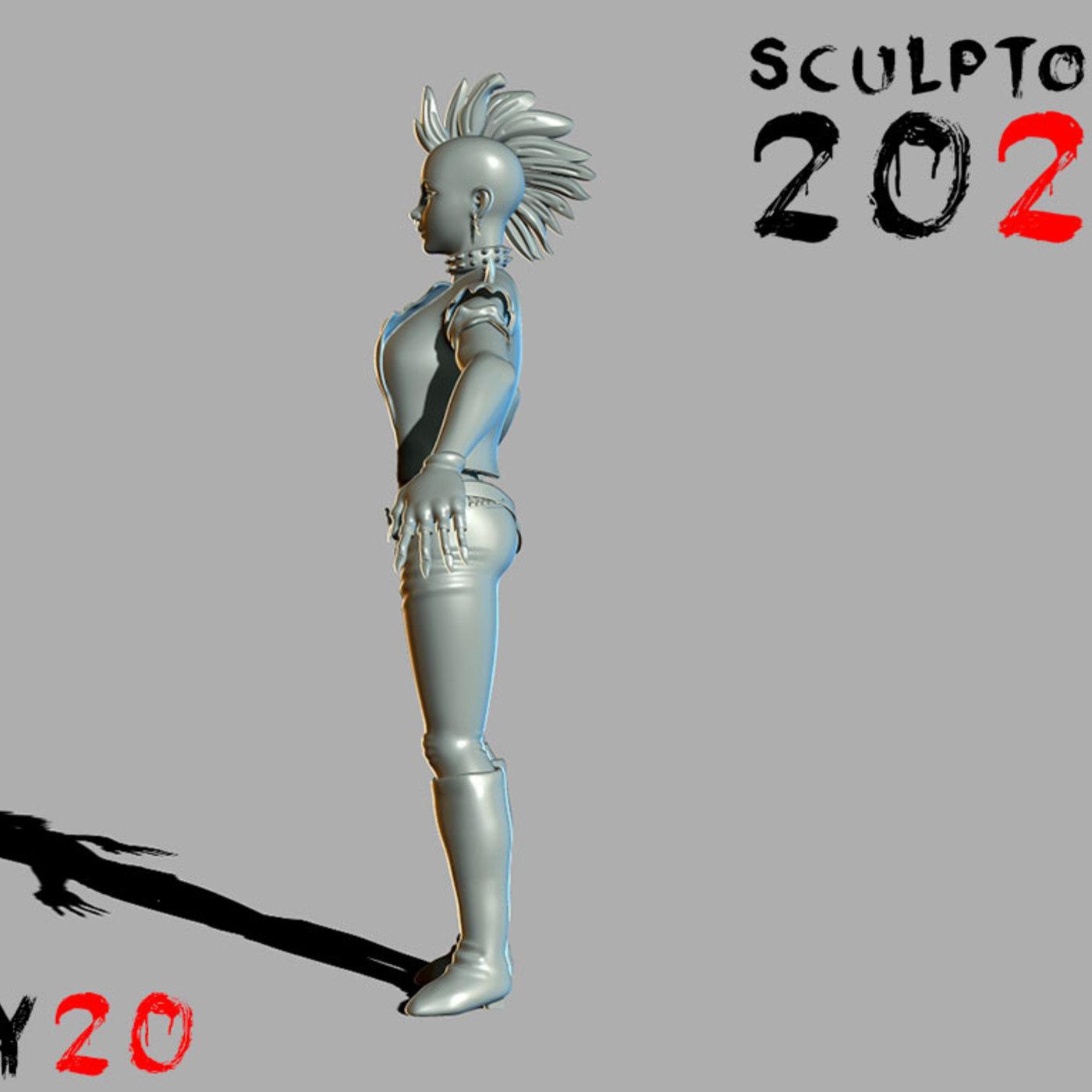 Sculptober Day 20 Storm