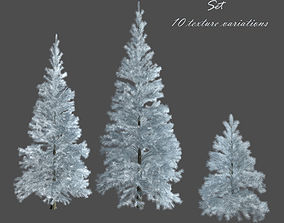 low-poly Spruce 3D model