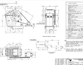 3D model Sandvik jm1108 jaw crusher complete drawing