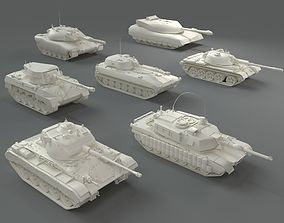 3D model Tanks - 7 pieces - part-2