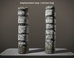3D model Mayan Columns Low Poly PBR