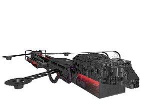 sci-fi machine Spaceship 3D model
