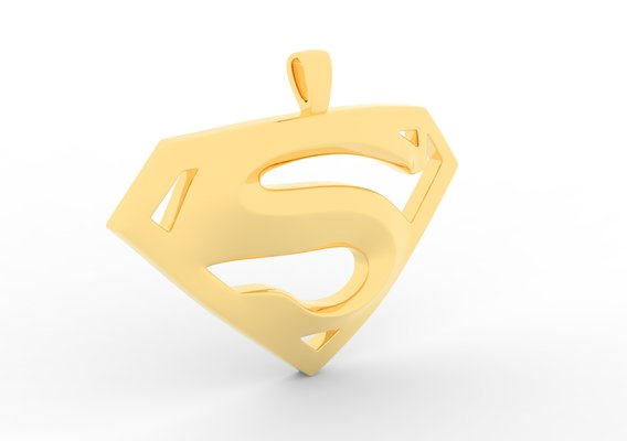 S Logo Pendant Gold - Version 1