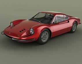 3D model Dino Ferrari 206 GT