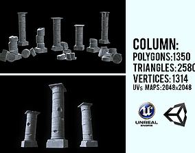 3D model PBR Stylized modular column