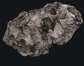 collision galaxy Meteor Asteroid Rock 4K 3D model