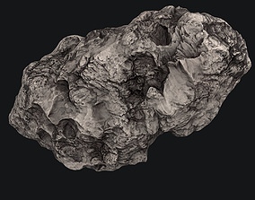 rock 3D model Meteor Asteroid Rock 4K