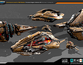 Spaceships Vol-18 3D model realtime