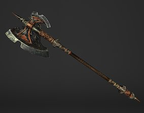 3D model Great Spear Head Battleaxe