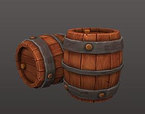 tutorial Wooden barrel 3D asset game-ready