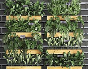 wooden flower boxes vertical garden 39 3D