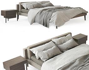 3D Floyd Hi Bed and Bedside Stilt by Living Divani