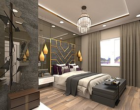 bedroom design 3D model game-ready