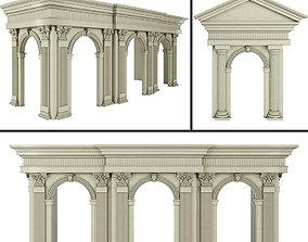 3D model Classic Architecture Arch 2