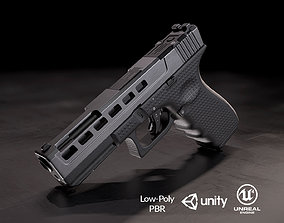 3D model low-poly Glock 17