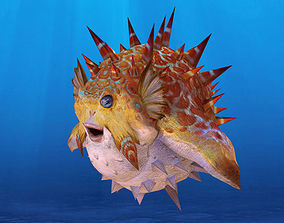 3D asset Low Poly Fugu