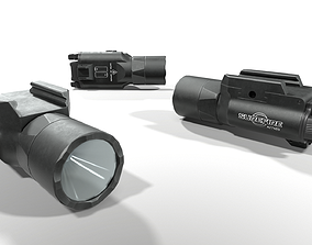 3D asset Surefire X300U-B Weapon Mounted Light