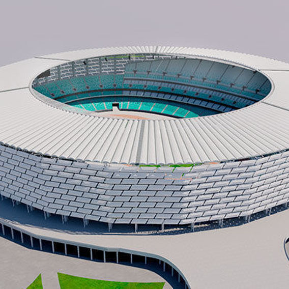 Baku Olympic Stadium - Azerbaijan 3D model