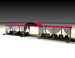 3D Restaurant Terrace 01