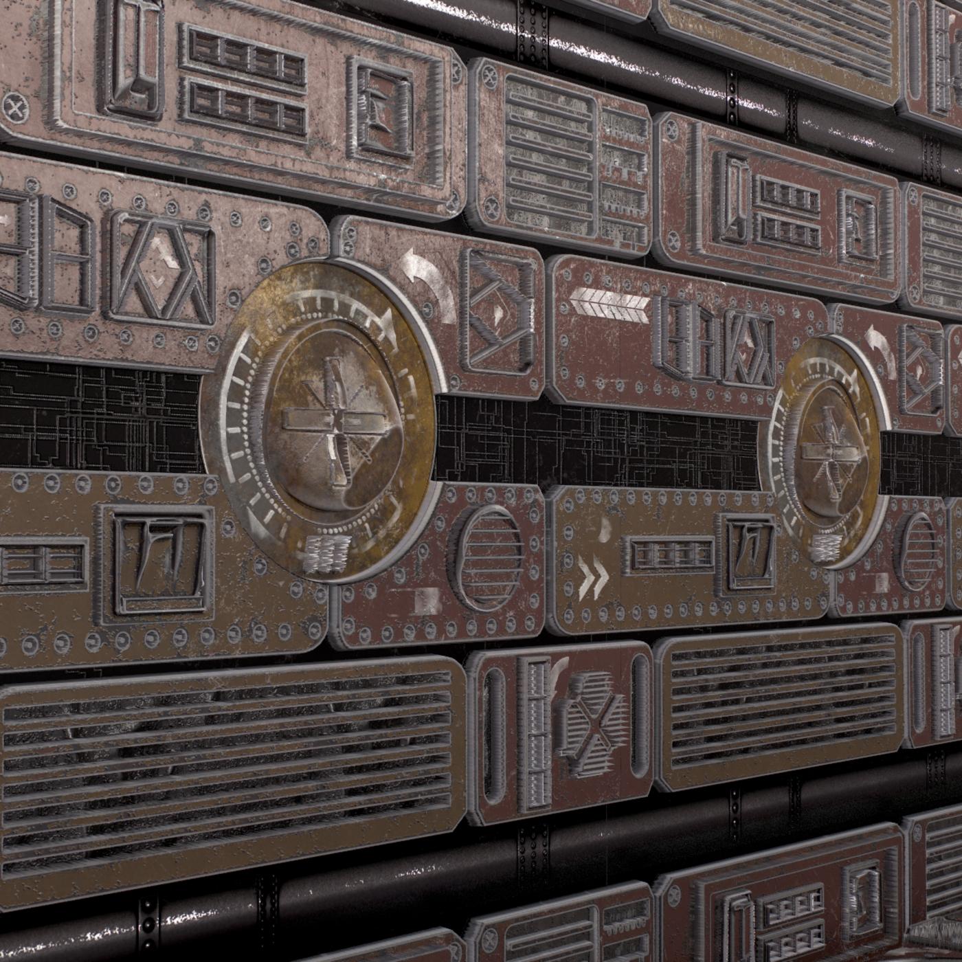 Sci-Fi seamless textures