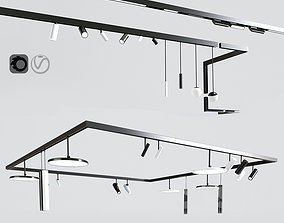 Ceiling Track Light Project 02 3D