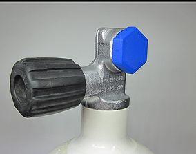 SCUBA - DIN Tank Dust Cap 3D print model