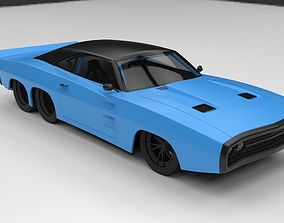 Dodge Charger six-wheeled concept 3D model