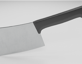 low and high poli cleaver 3D asset