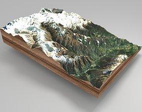 Mountain landscape snow 3D model