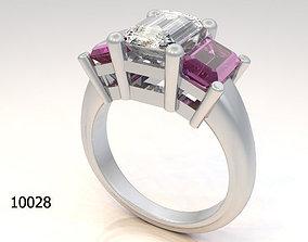 gemstone fashion Ring 3D printable model