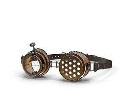 3D steampunk goggles VRM
