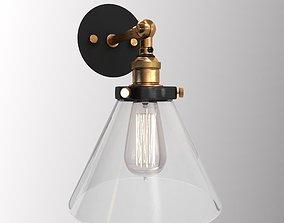 Vintage lamp beautiful 3D