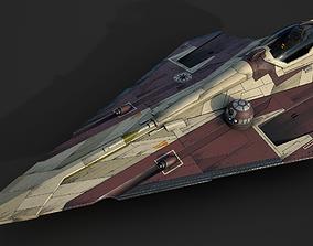 Star Wars Jedi Starfighter-AOTC-Obi Wan 3D model