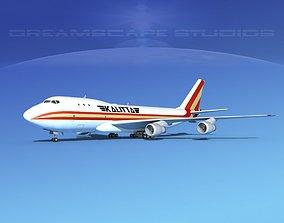 3D model Boeing 747-100 Kalitta Air