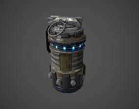 3D model VR / AR ready Grenade Sci-fi