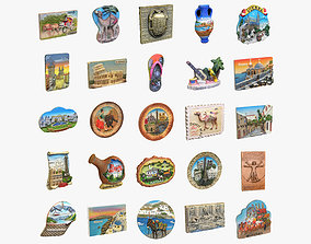 Souvenir Magnets Collection 3D model