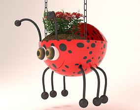 Beutiful Ladybird Hanging Basket - 3D printable model 2