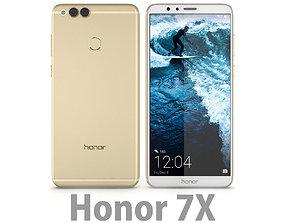 3D model Huawei Honor 7X Gold