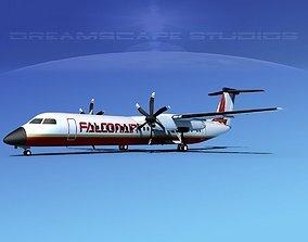 Dehaviland DHC-8 400 Falcon Air 3D