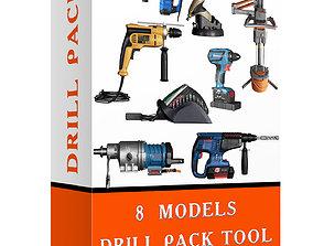 3D model Drill pack tools